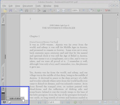page size in Adobe Reader 7