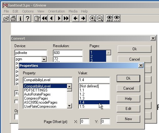 Using GSView/Ghostview to convert postscript to PDF