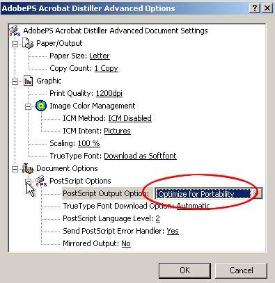 Installing the Postscript driver